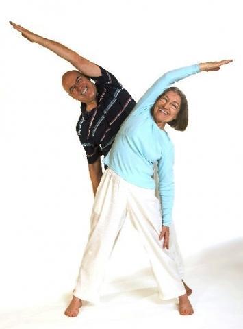 Dreieck Yoga Asana - (Alter, Training, Prävention)