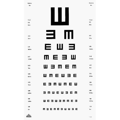 Sehtesttafel - (Brille, Optiker, Sehfähigkeit)