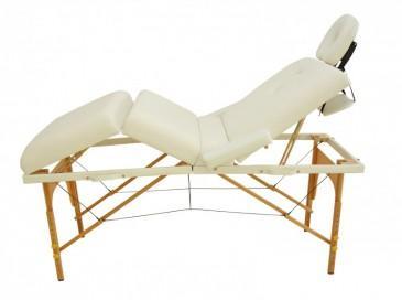 4-Zonen Massageliege weiss - (Schmerzen, Rücken, Steißbein)