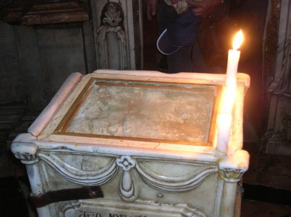 Stein vor dem heiligen Grab - (Ostern, feiern, Fest)
