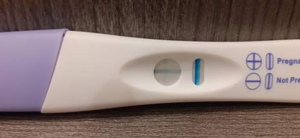 Nicht eindeutig schwangerschaftstest Schwangerschaftstest nicht